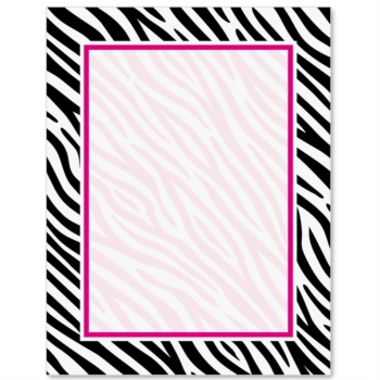 8 Images of Zebra Print Paper Free Printable