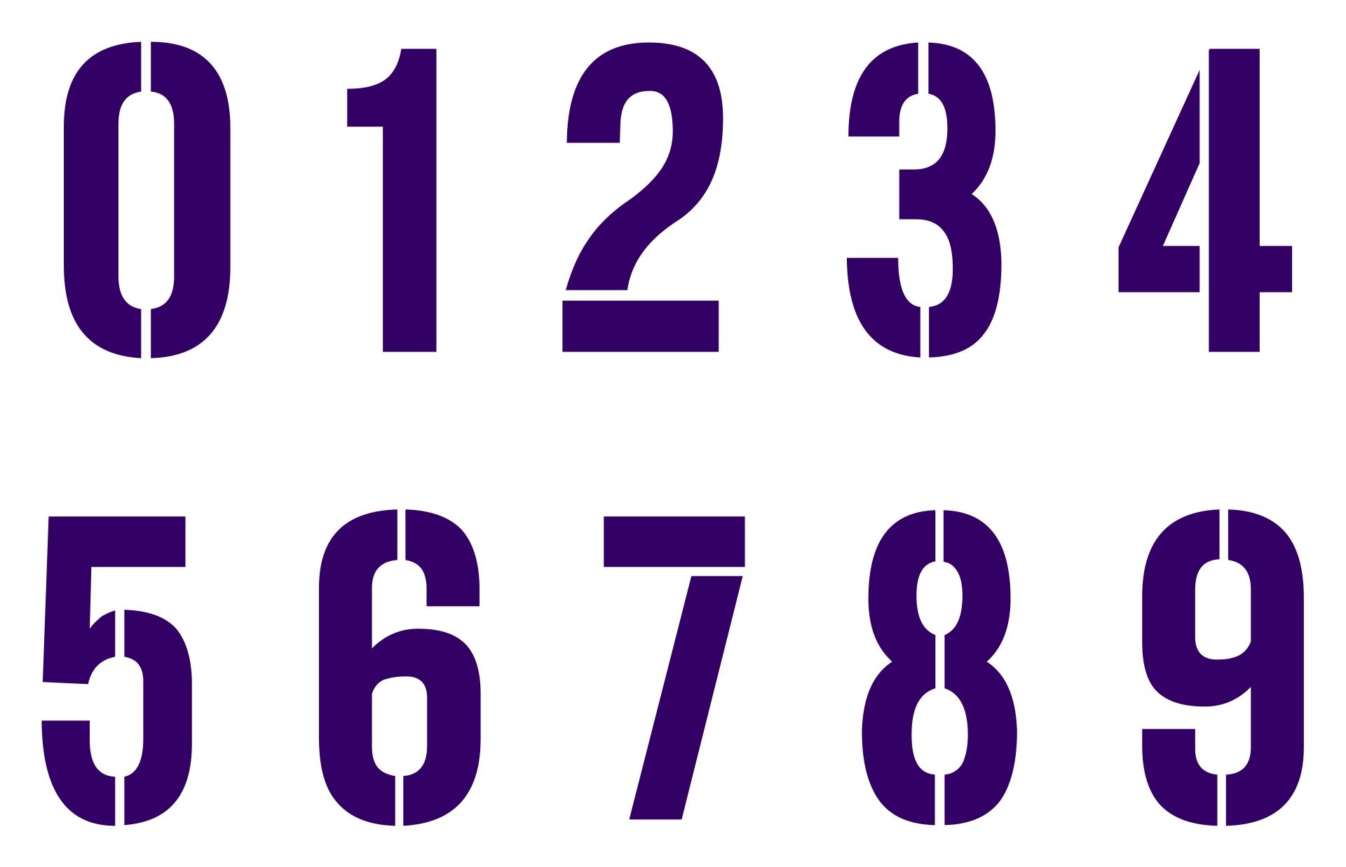 3 Inch Number Stencils