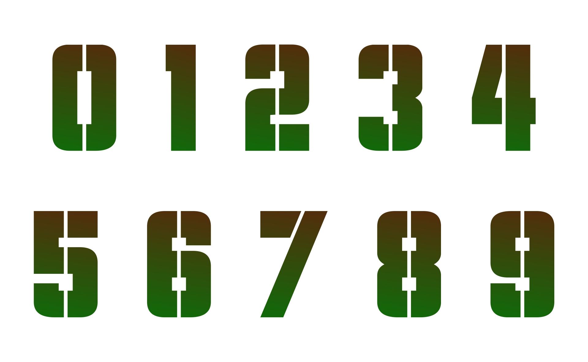 3 Inch Stencils Numbers Printable