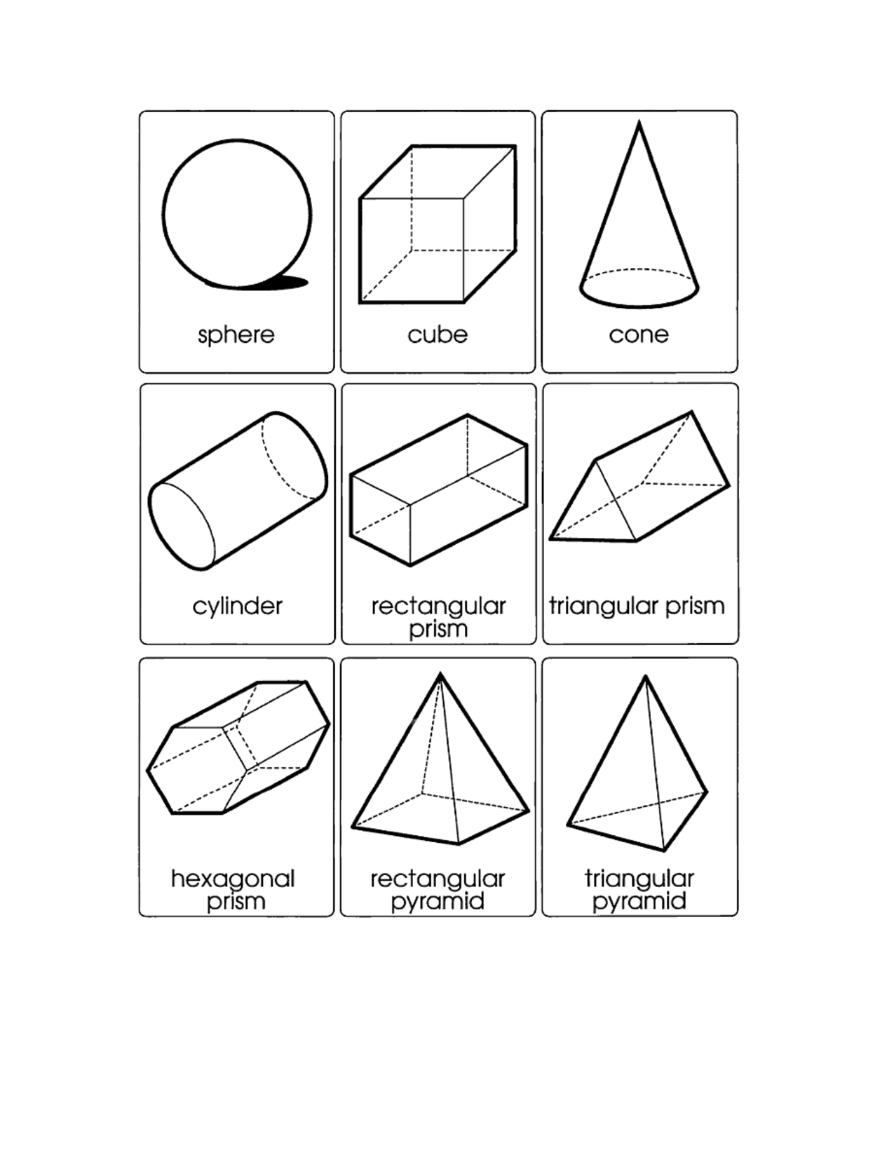 5 Images of 3D Shape Templates Printable