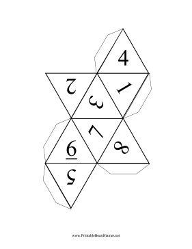 7 Images of Eight-Sided Dice Printable