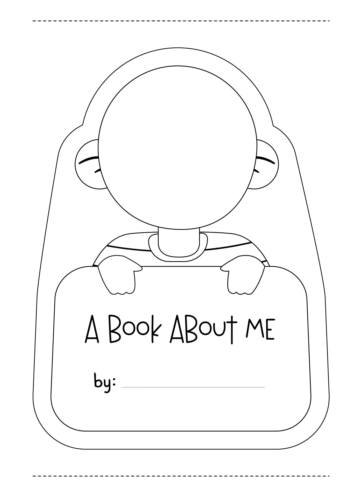 4 Images of A Book About Me Printable