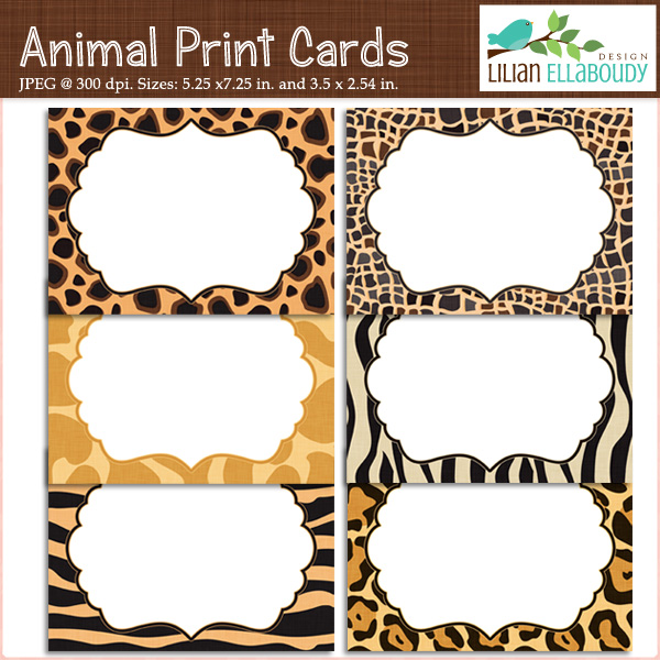5 Images of Animal Print Printables