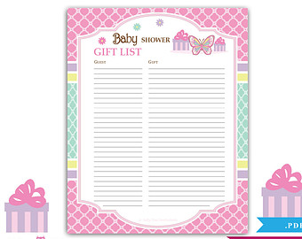 It's just a picture of Inventive Free Printable Baby Shower Guest Sign in Sheet