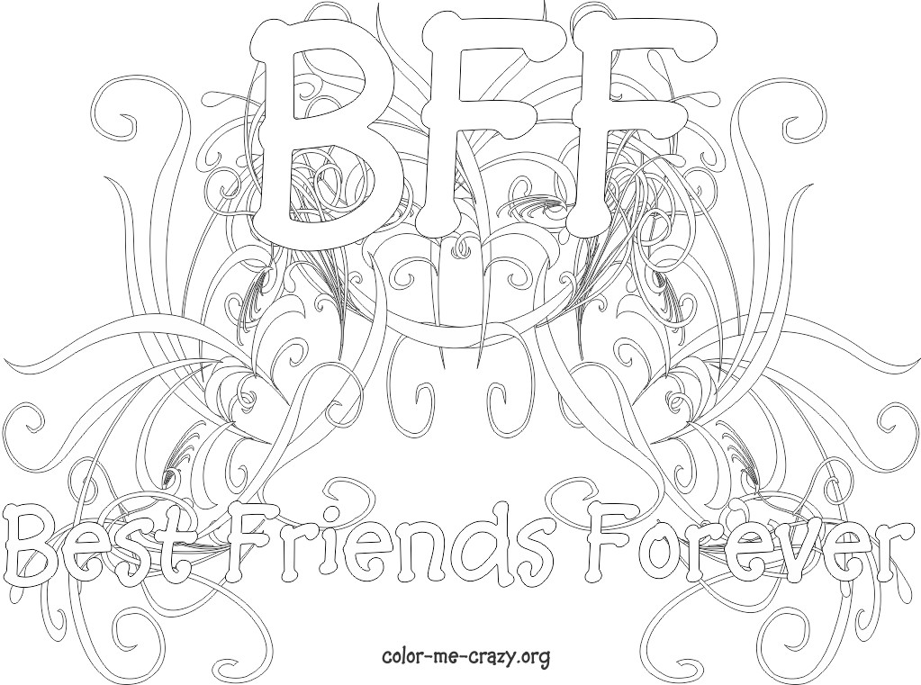 4 Images of Printable BFF Coloring Pages