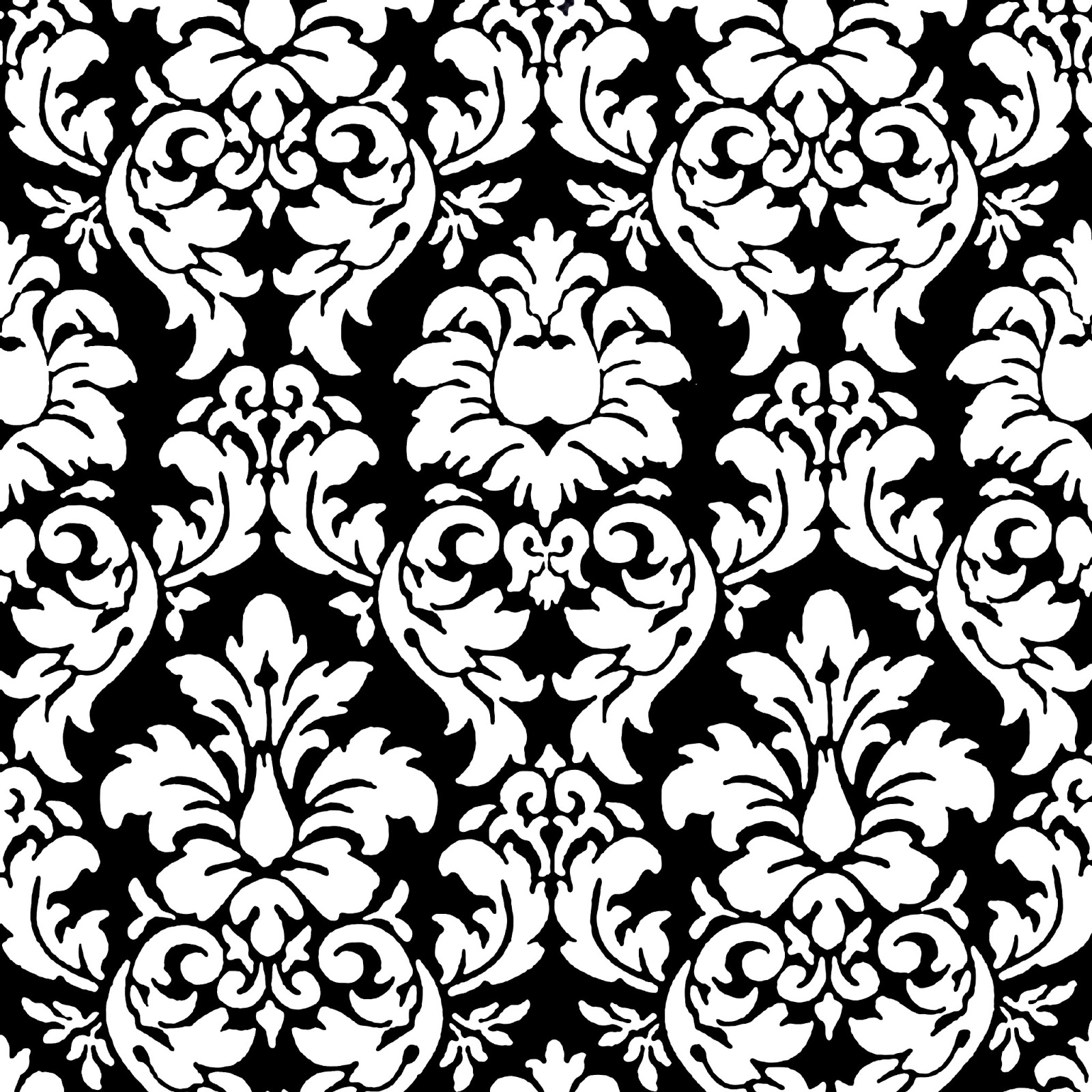 4 Images of Free Printable Damask Paper Background