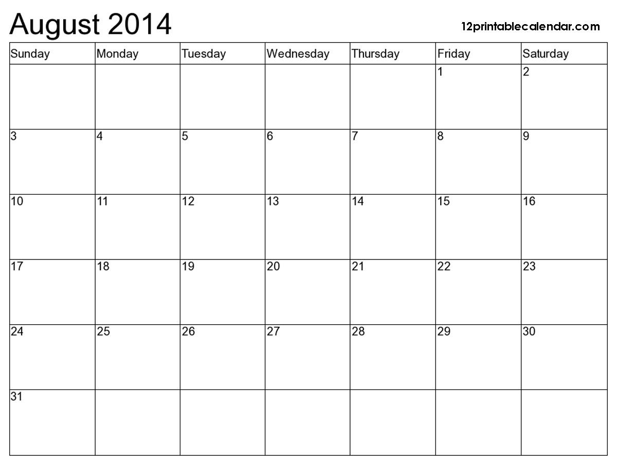 Monthly Blank Calendar Printable | Calendar Template 2016