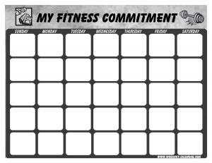 Blank Calendar Template, Blank Weekly Workout Schedule Template ...