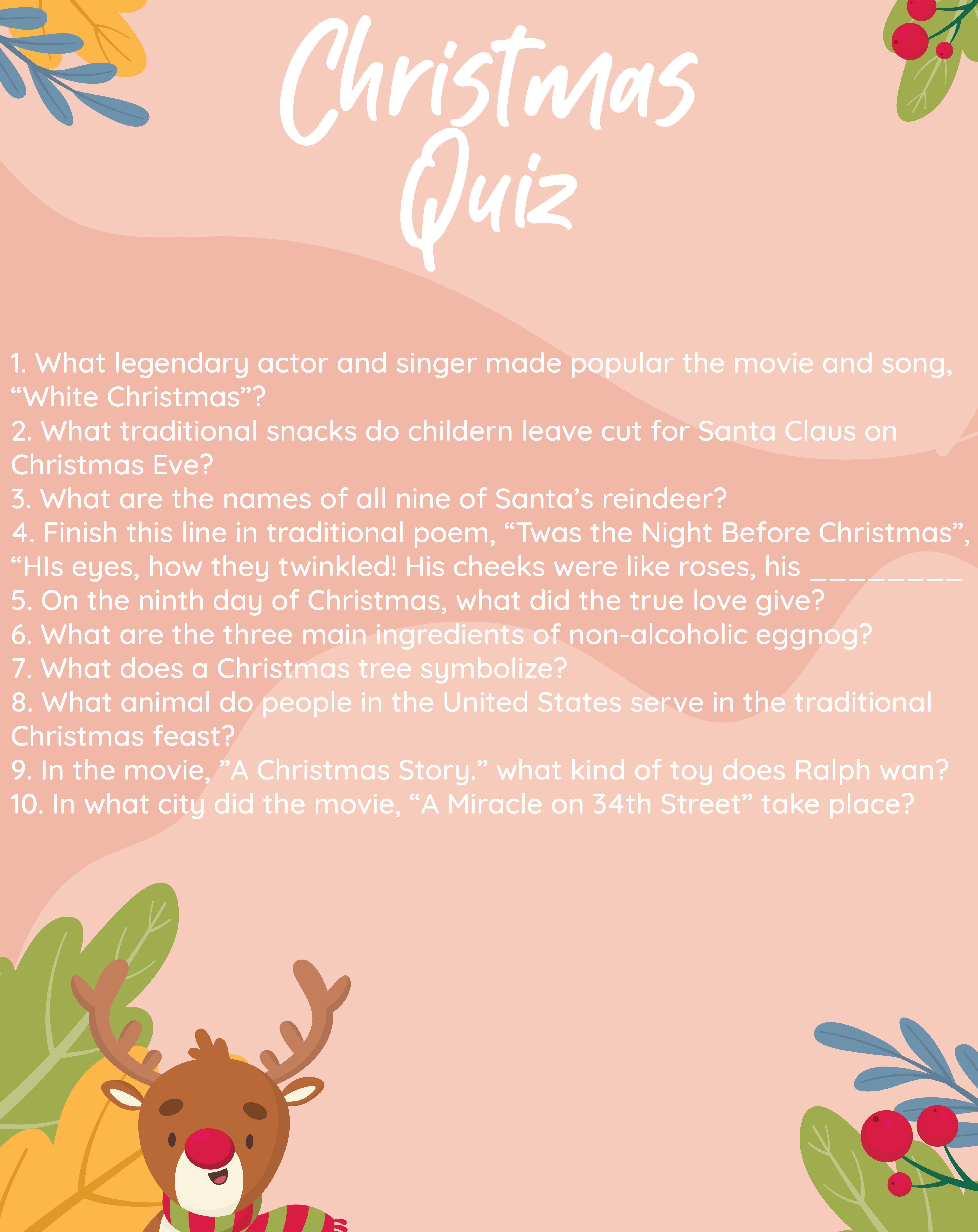 Christmas Printable Trivia with Answers
