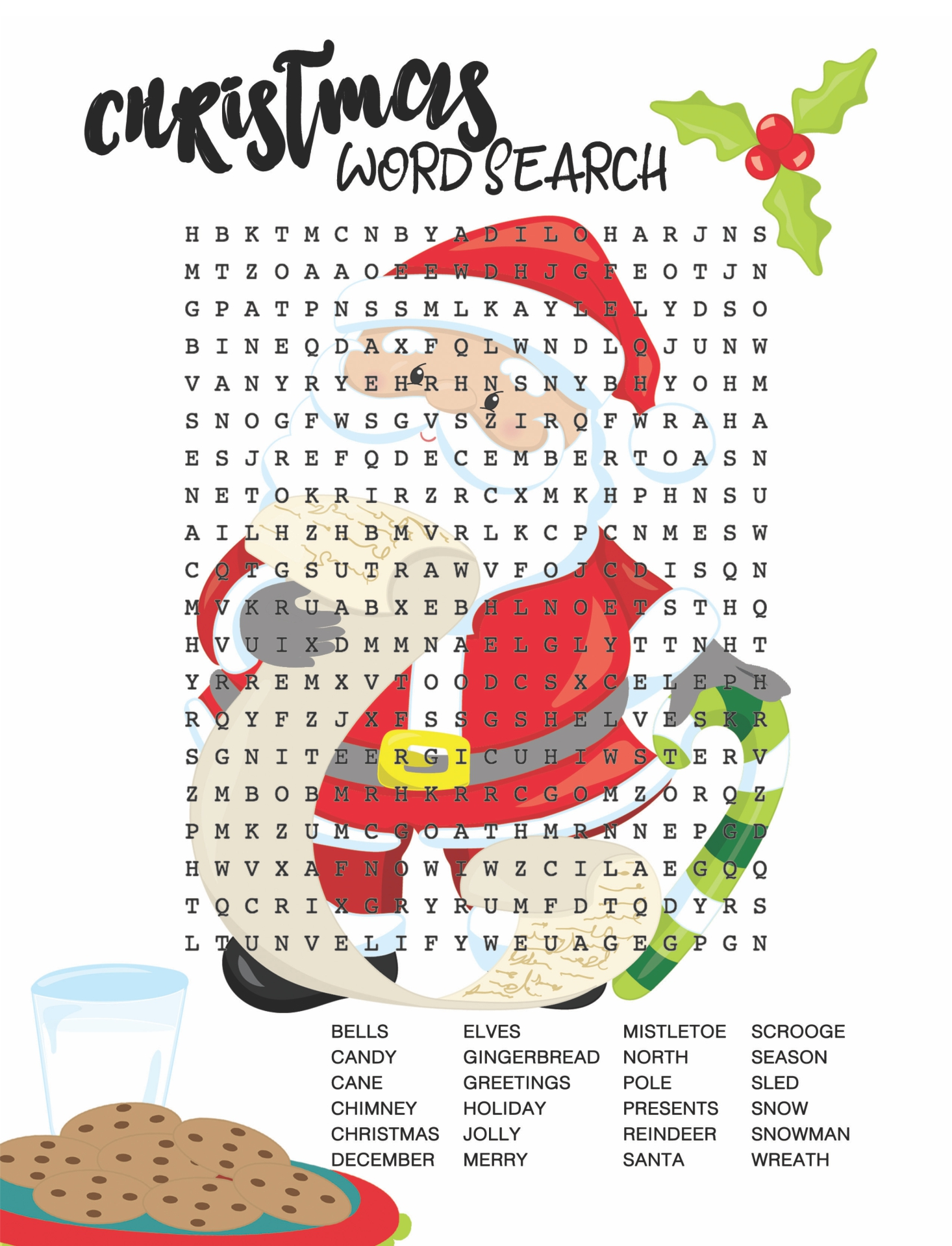 Worksheets Christmas Word Search Worksheets 6 best images of big printable christmas word searches search printable