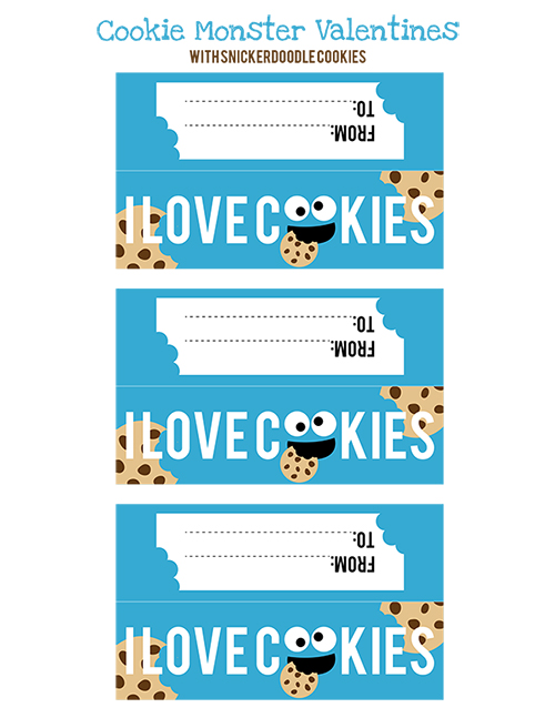 4 Images of Cookie Monster Printables