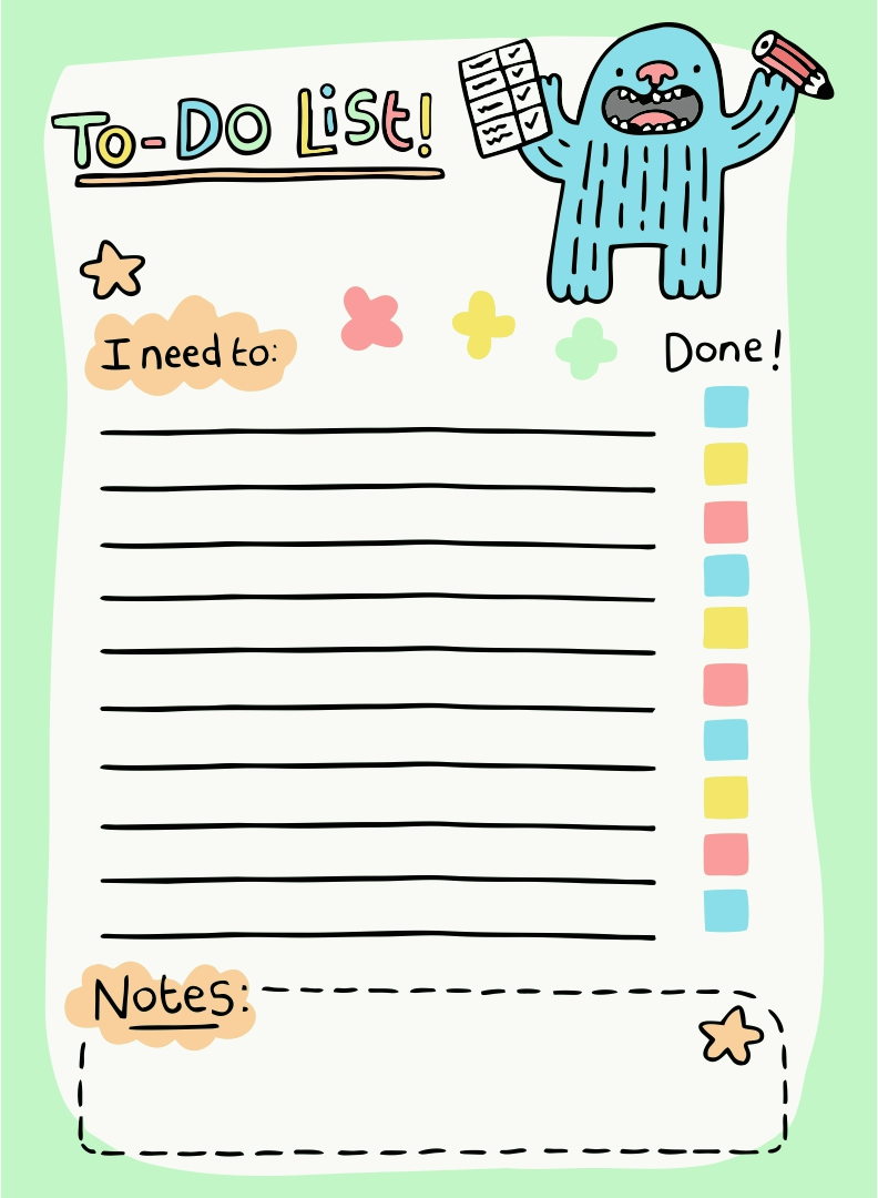 8 best cute to do list printable template