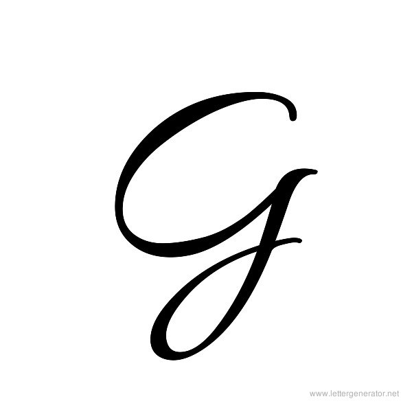 Images for gt cursive letter g