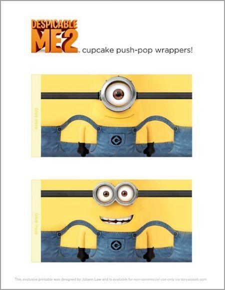 Despicable Me Minion Cupcake Printables Free