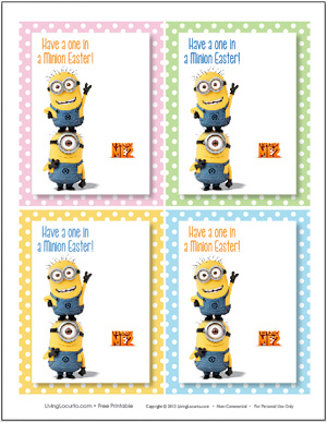 8 Images of Minion Free Printable Gift Tags