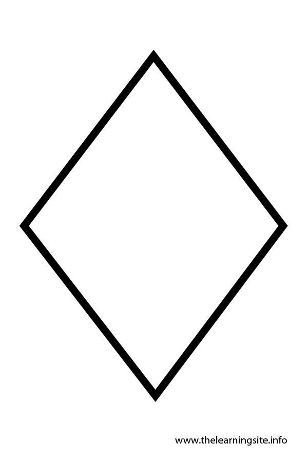 5 Images of Diamond Shape Template Printable