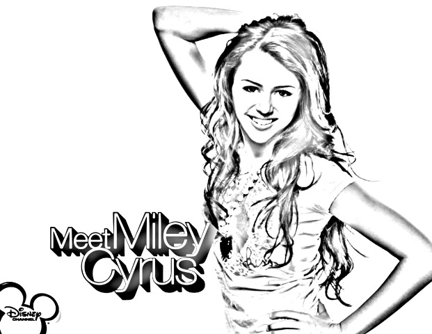 Disney Hannah Montana Coloring Pages