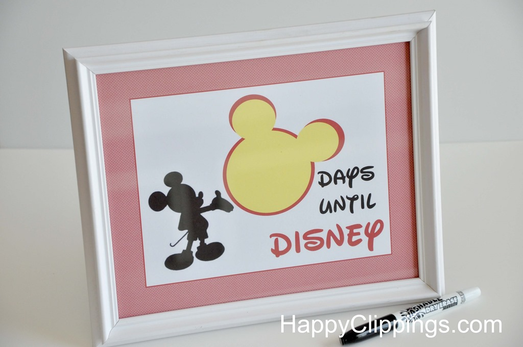 6 Images of Blank Disney Countdown Printable