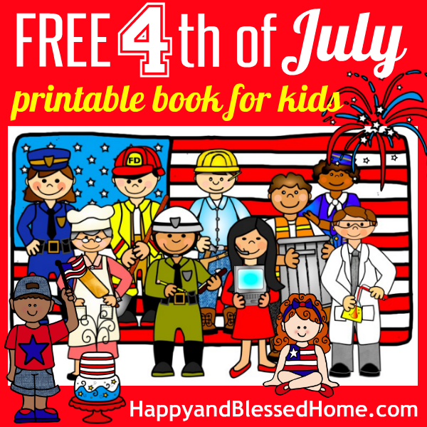7 Images of 4th Of July Book Printable