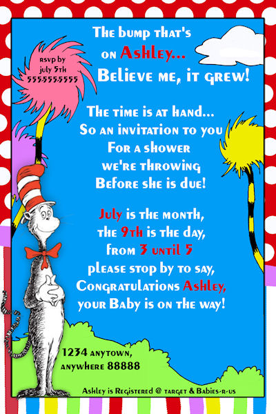 7 Images of Printable Seuss Christmas Invitations