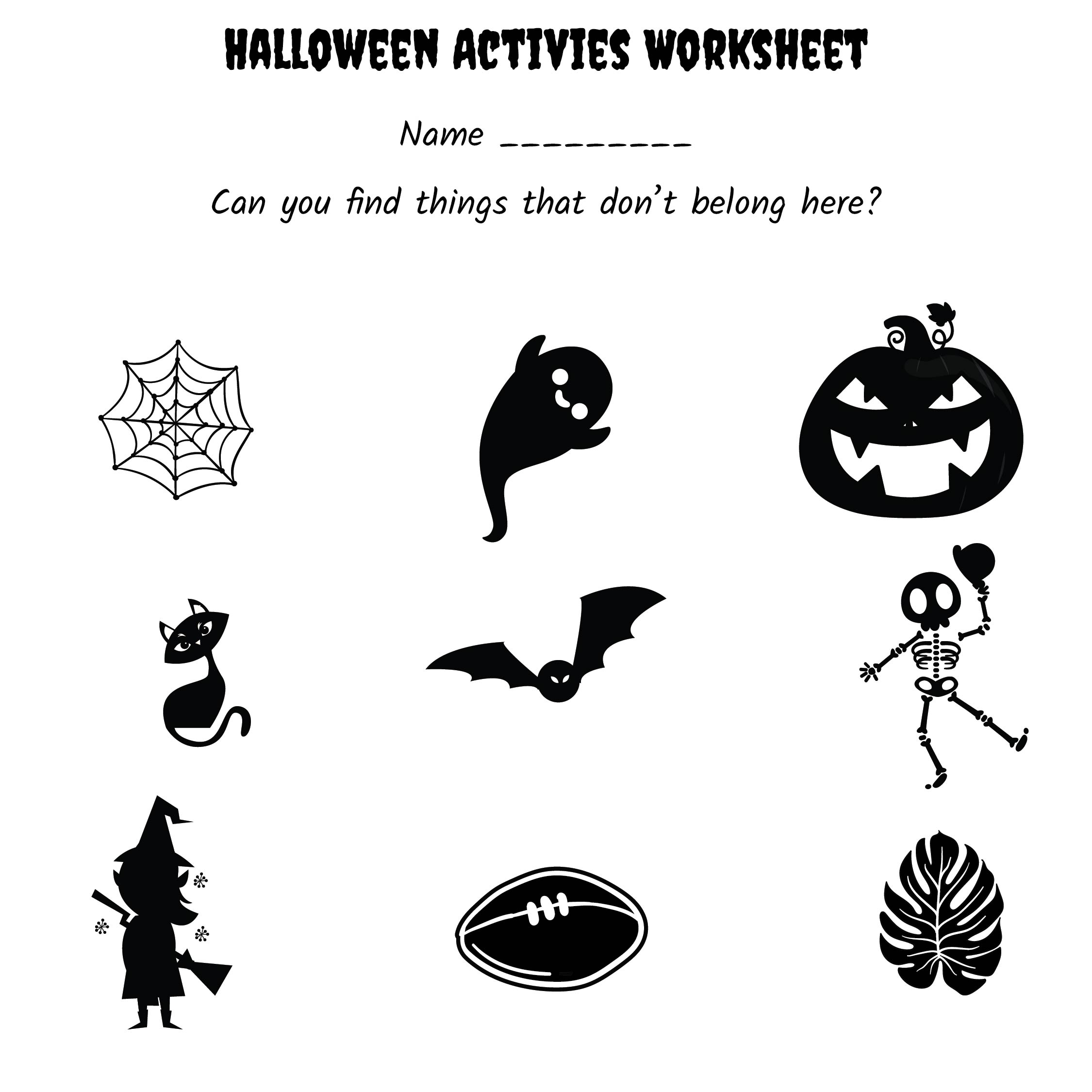 Free Halloween Worksheets Kindergarten