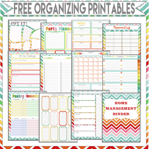 Free Home Organization Binder Printables
