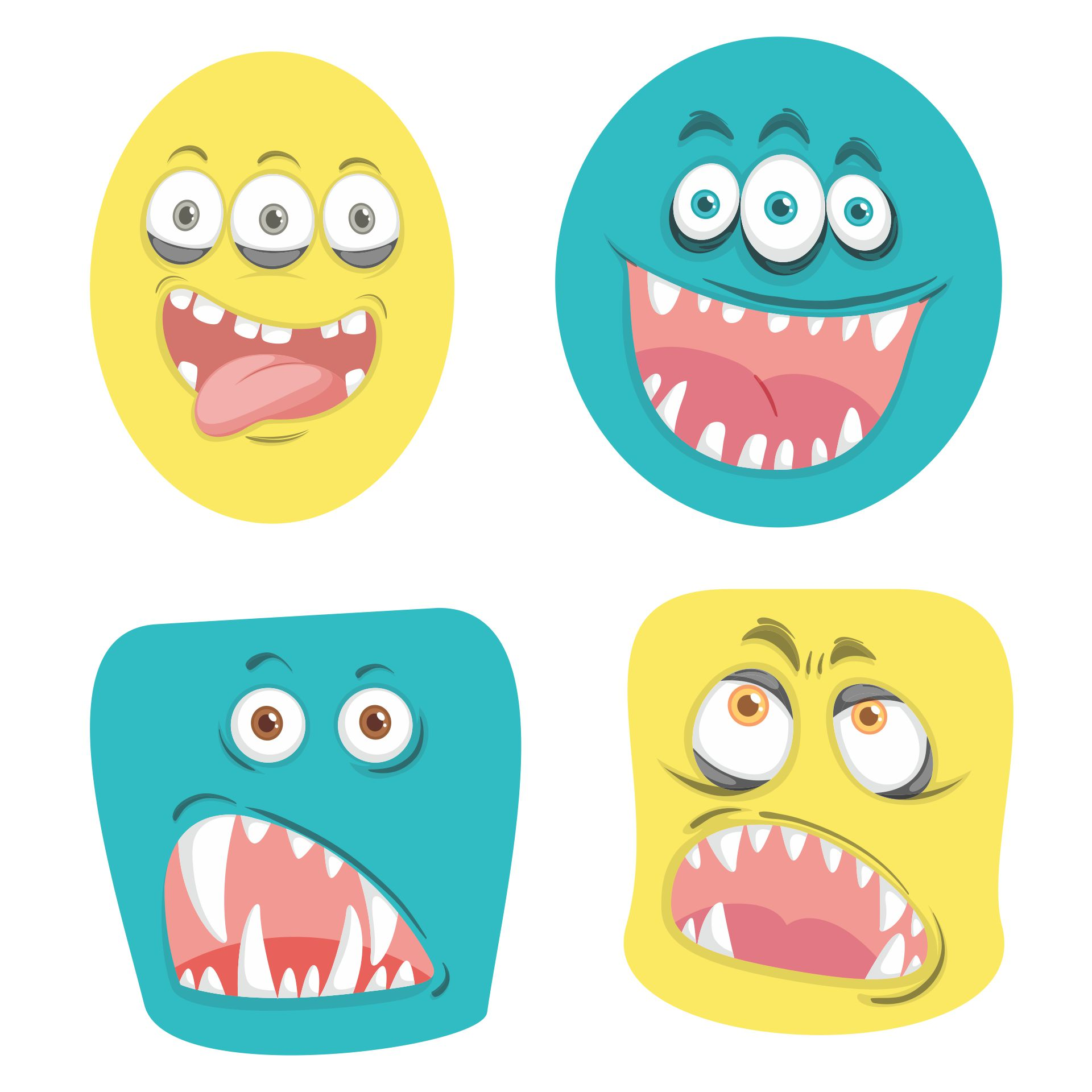 Monster Face Printables