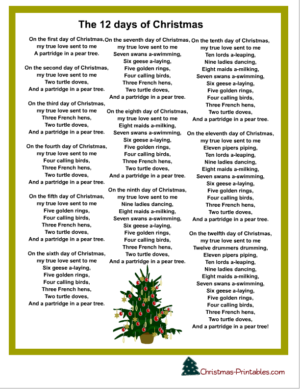5 Images of Printable Christmas Carol Booklet