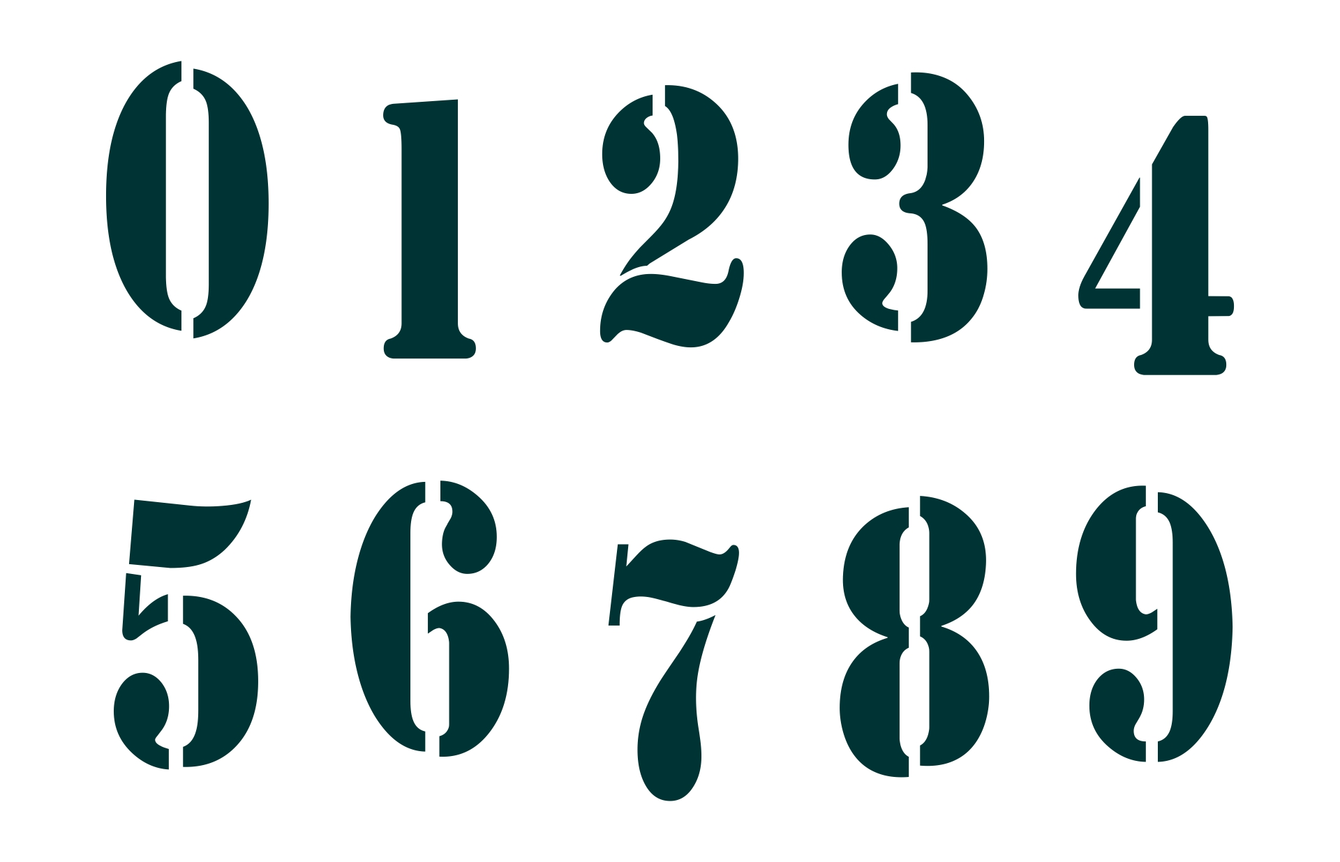 Printable 3 Inch Number Stencils