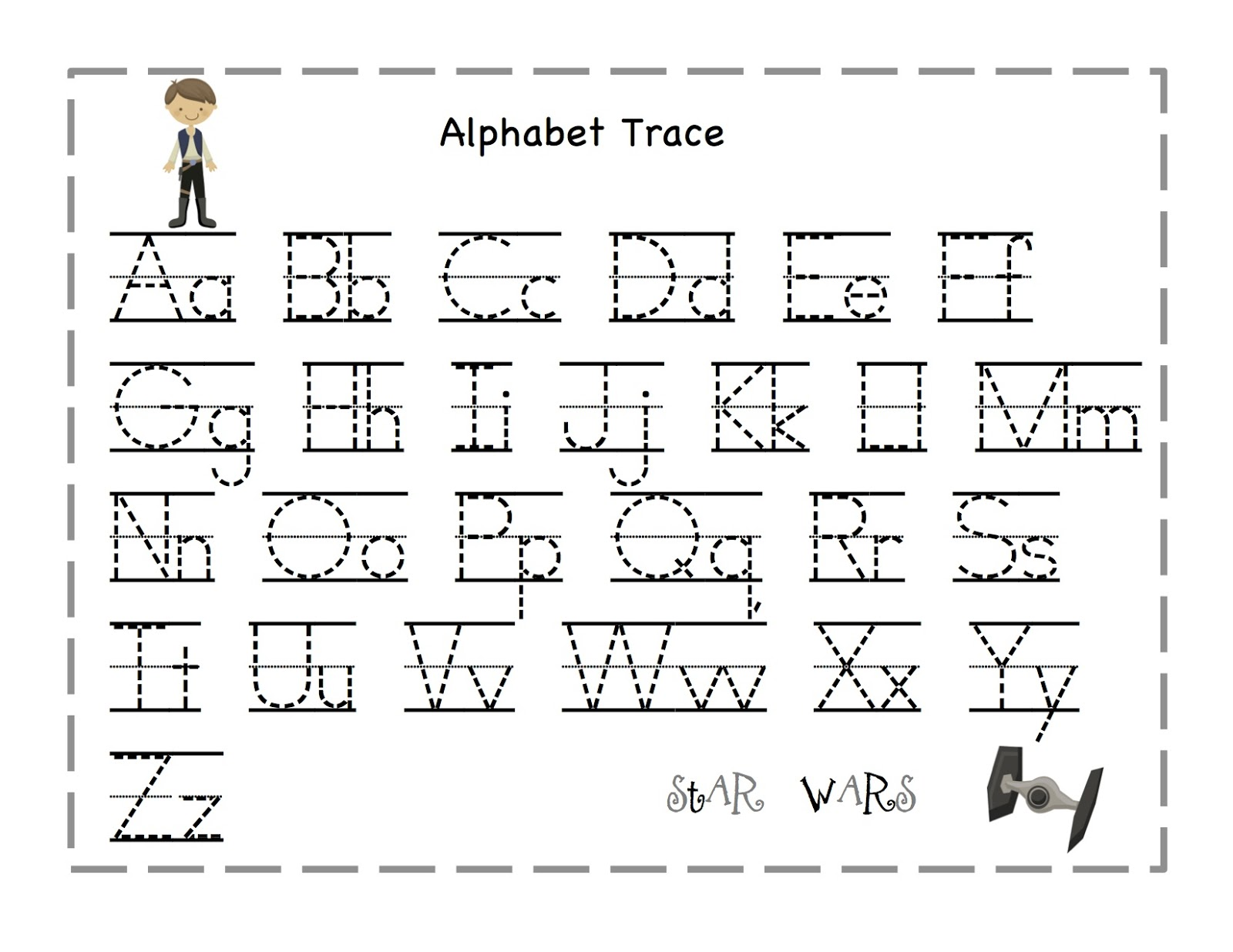 Printables Preschool Alphabet Worksheets A-z free printable alphabet worksheets a z intrepidpath tracing letters coloring traceable letter z