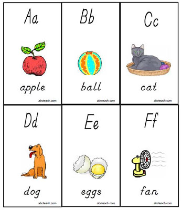 6 Images of Printable Alphabet Flash Cards For Kids