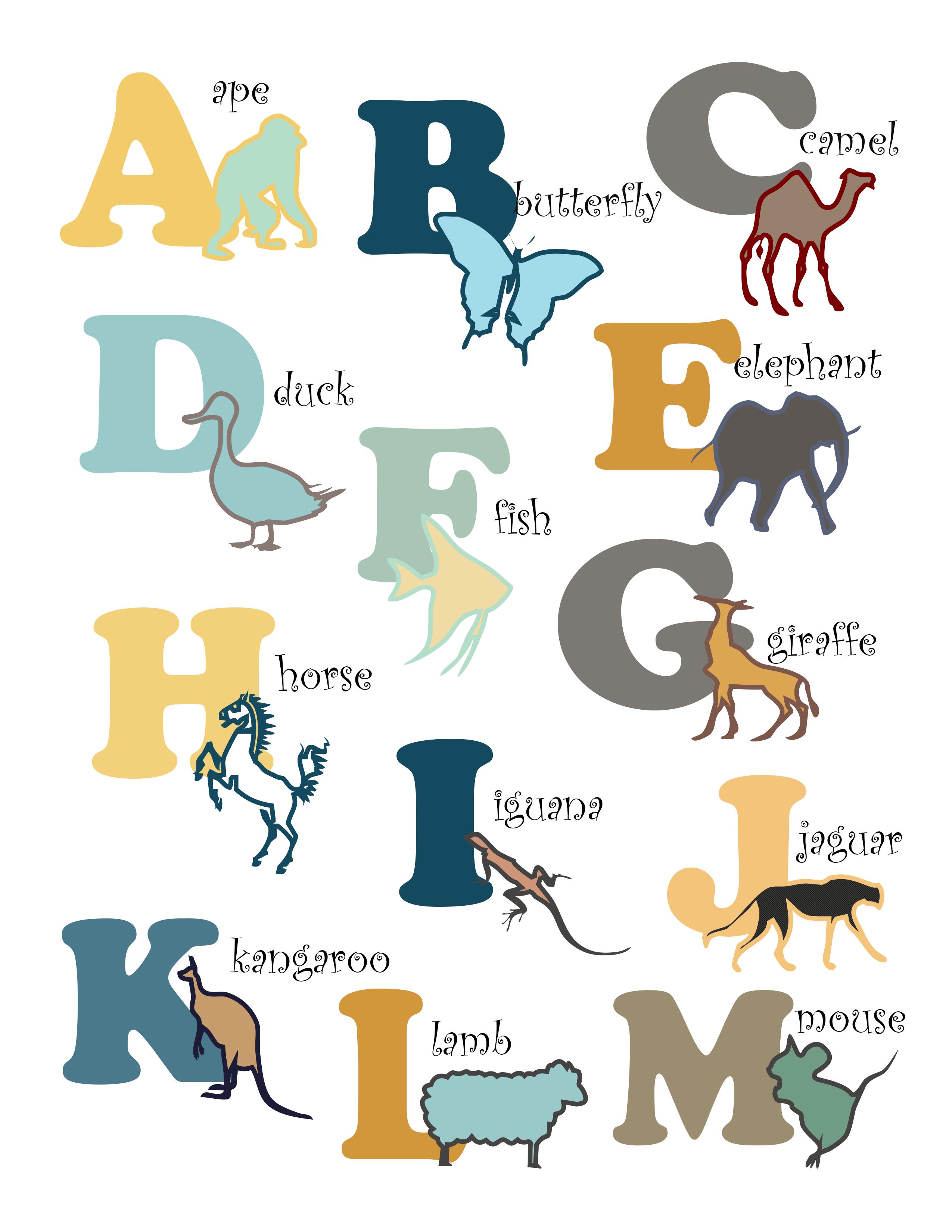 Free Printable Animal Nursery Art