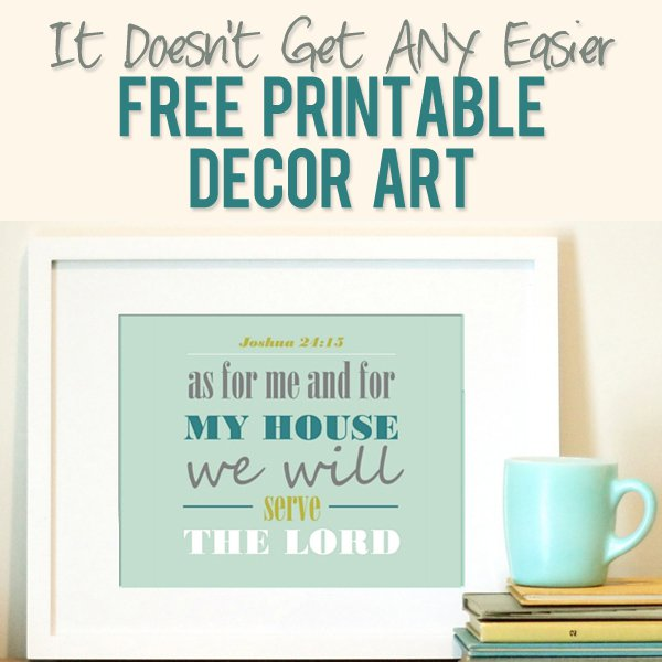 8 Images of Free Printable Decor Art