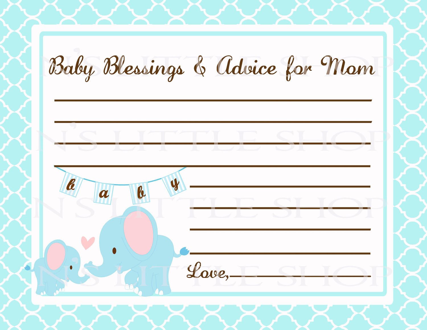 cards free printable baby shower advice cards and free printable baby
