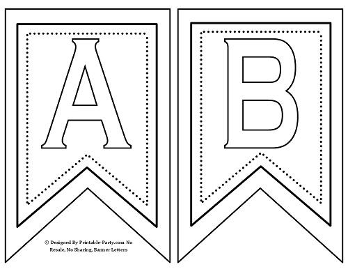 Pennant Banner Letter Template
