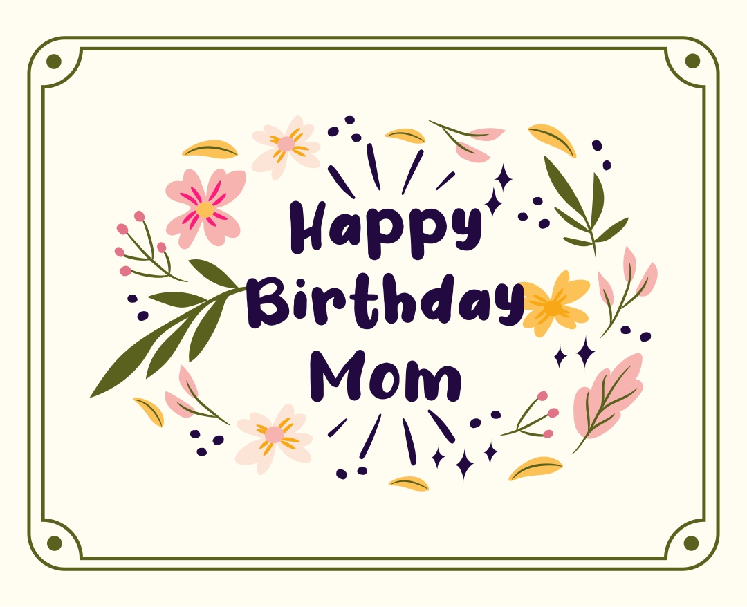 5 Images of Printable Birthday Cards For Mom