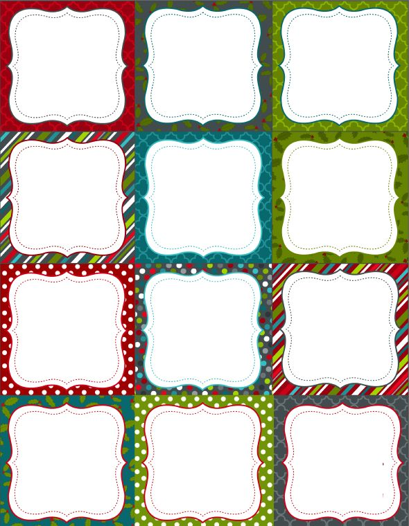 Free Printable Blank Christmas Labels