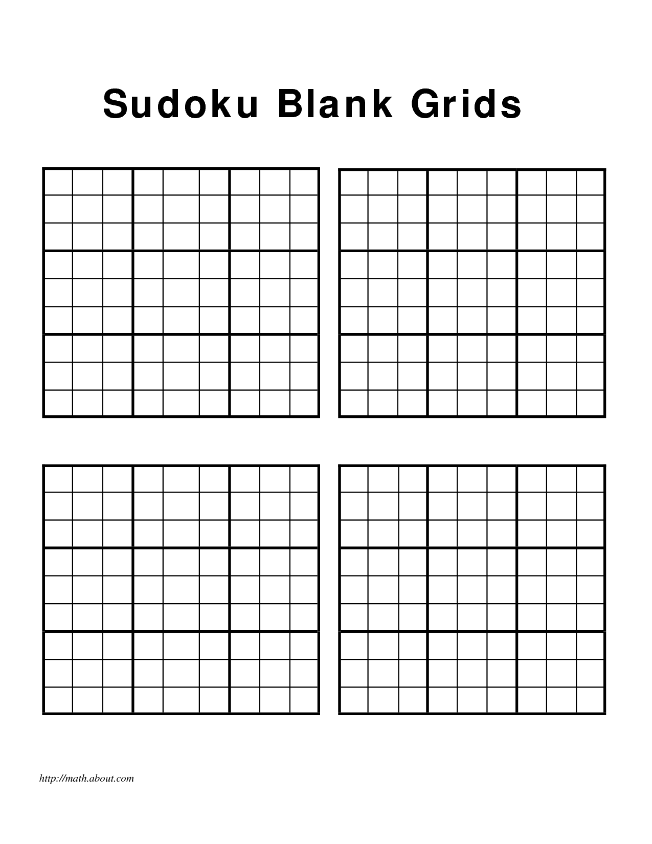 5 Best Images of Printable Blank Sudoku Worksheets - Blank Sudoku ...