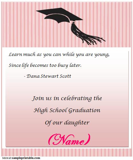 Graduation Party Invitation Template Free – Invitation to Graduation Party