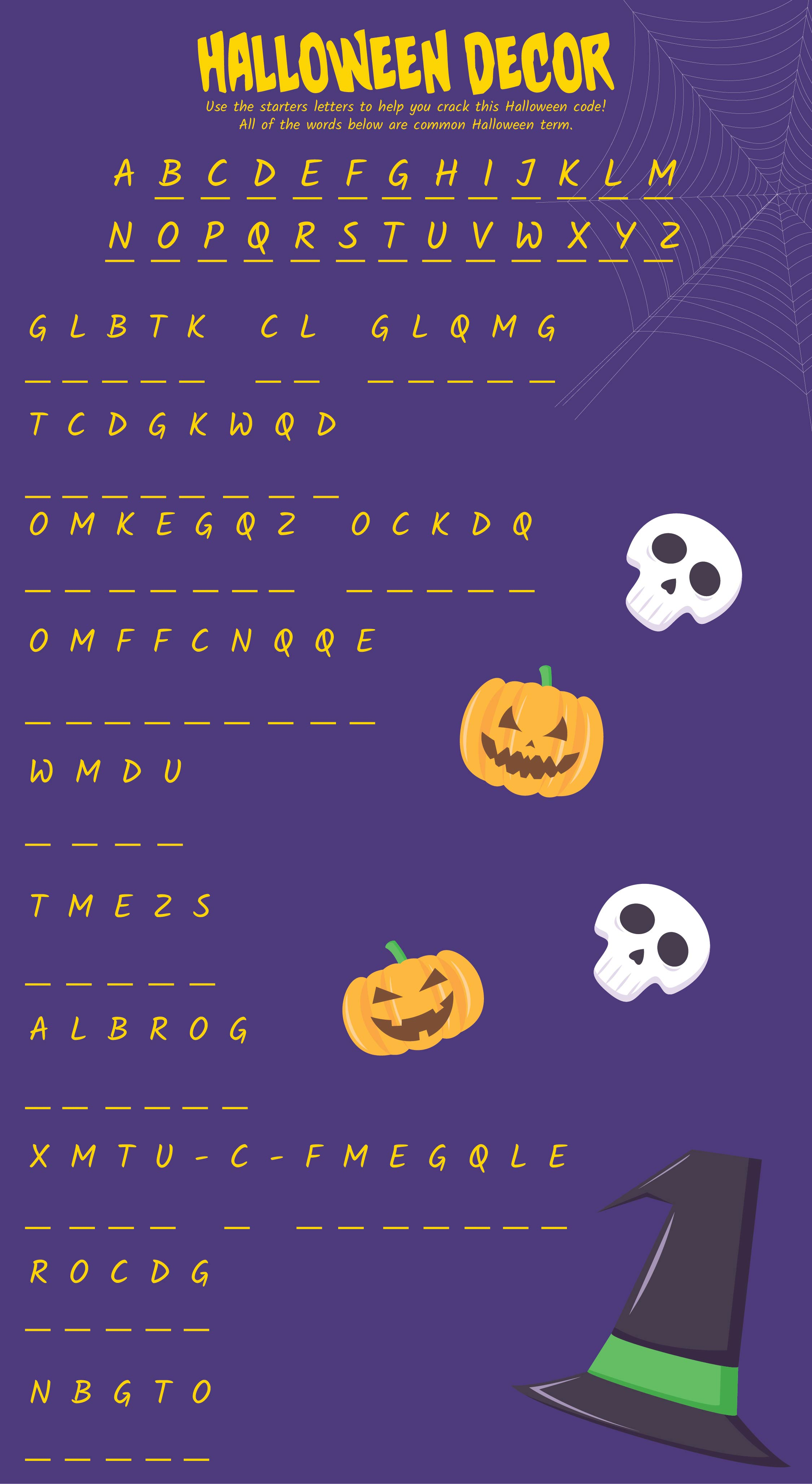 Printable Halloween Activity Pages