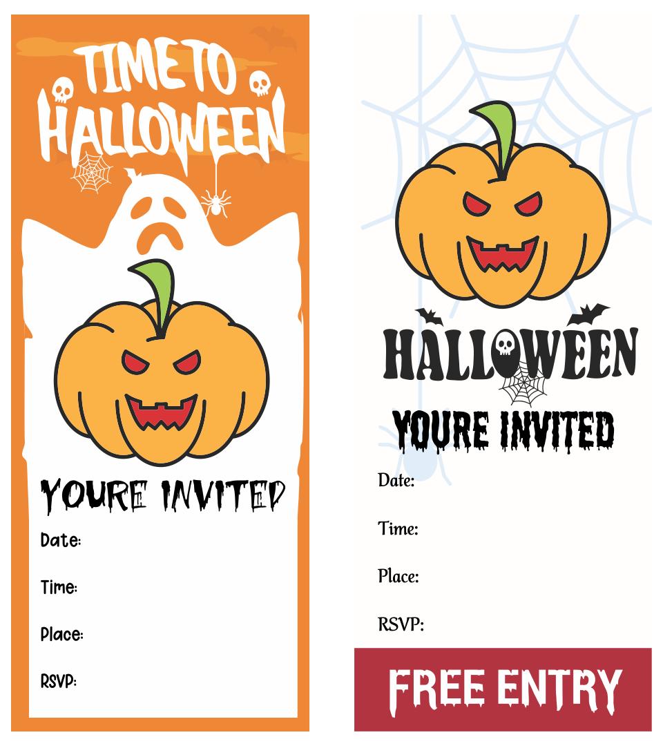 6 best free printable blank halloween invitations