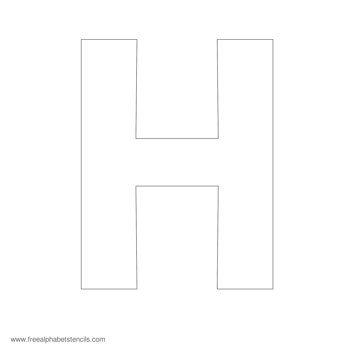 7 Images of Large Printable Letter Stencils H