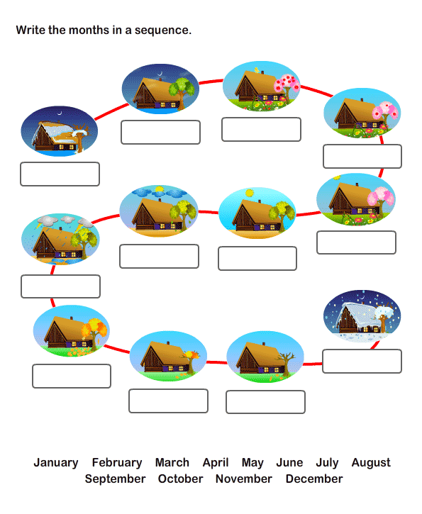 Number Names Worksheets worksheet for months of the year : Free Printable Months Of The Year Worksheets For Kindergarten ...
