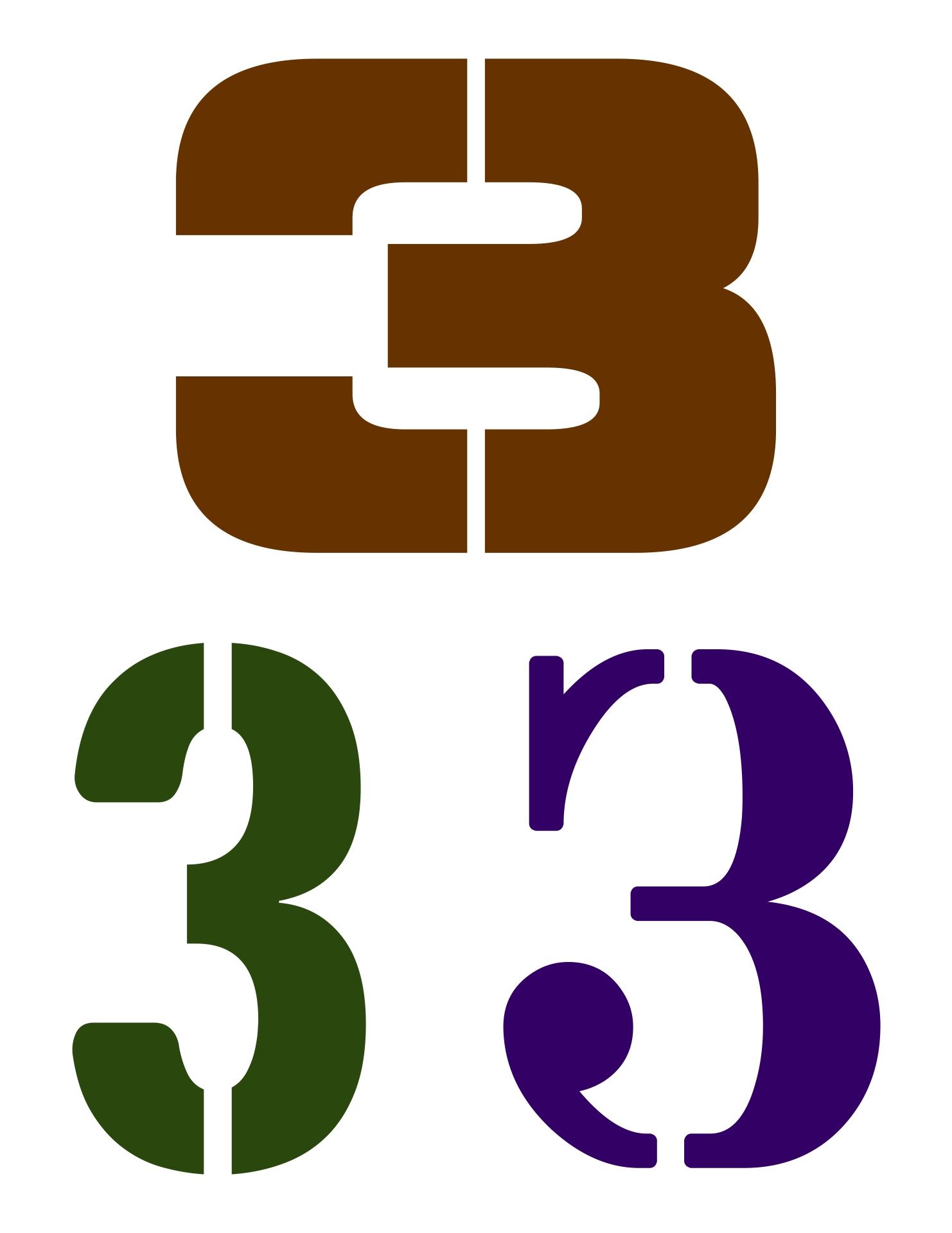 Printable Number Stencils 3