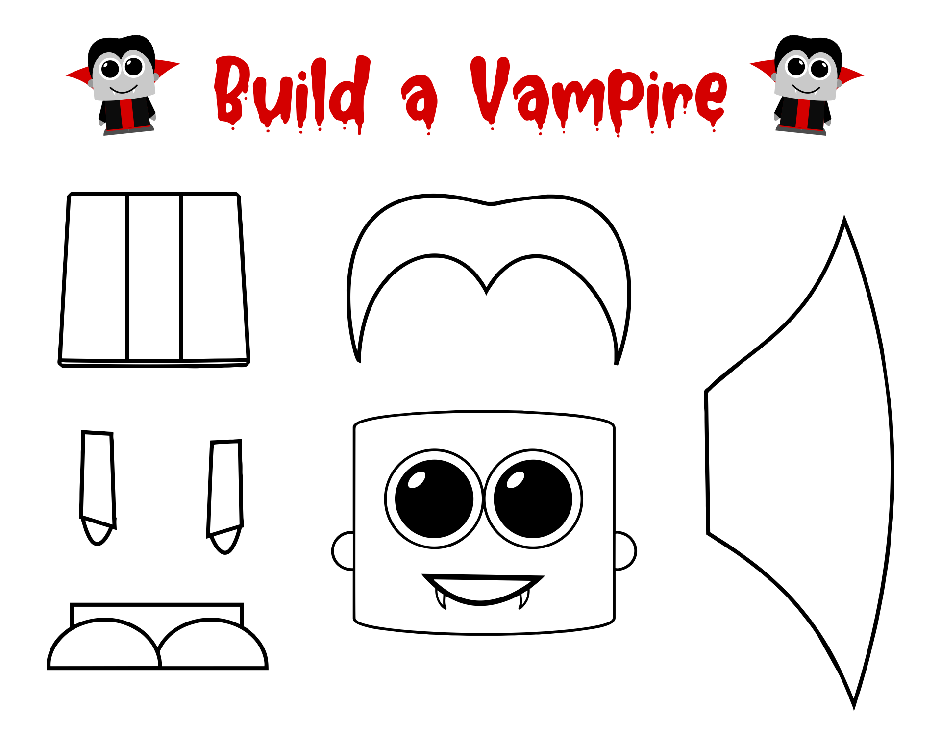 5 Images of Printable Halloween Crafts For Preschoolers
