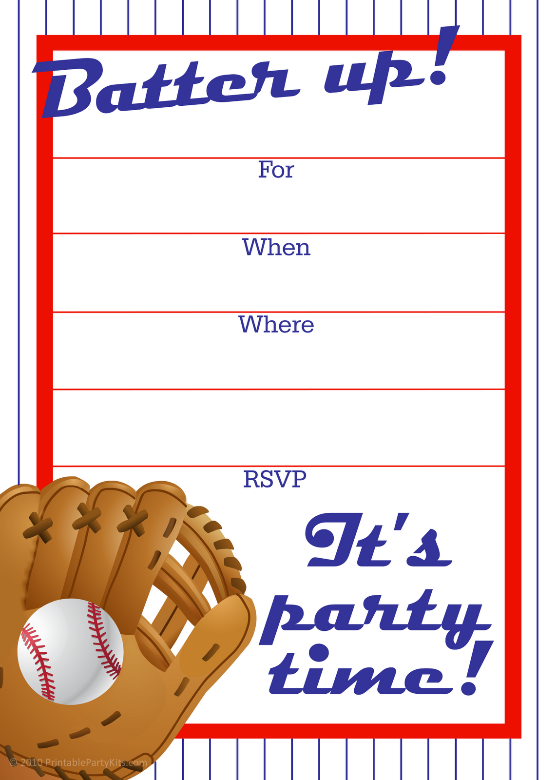 6 Images of Free Printable Sports Birthday Party Invitation Cards