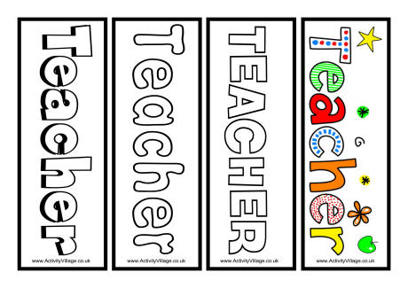 7 Images of Printable Bookmarks For Teachers