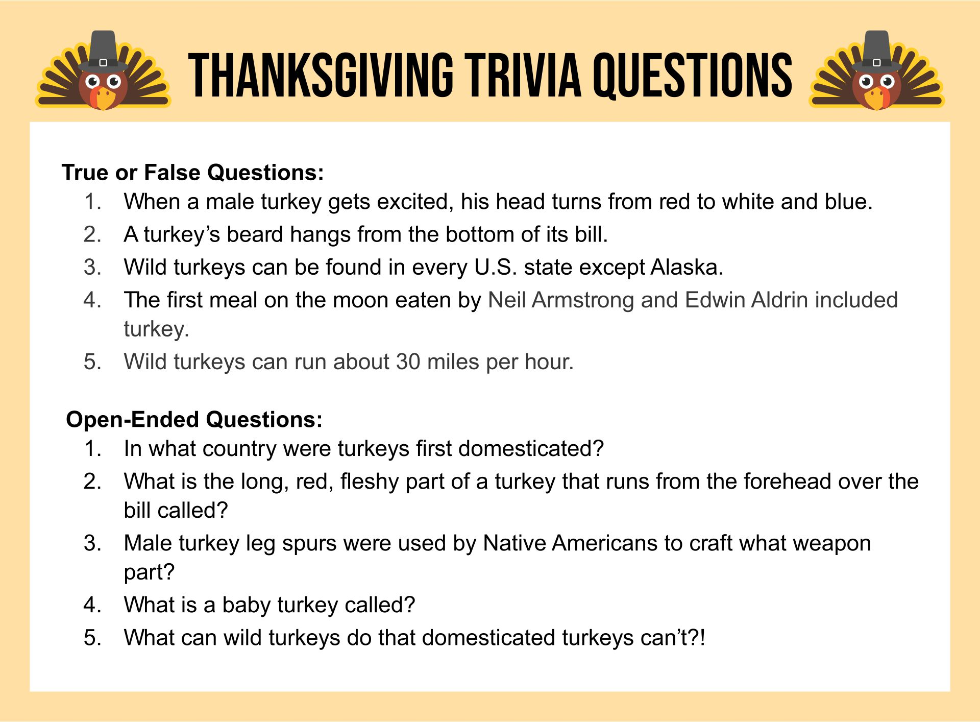 4 Images of Thanksgiving Trivia Printable Games