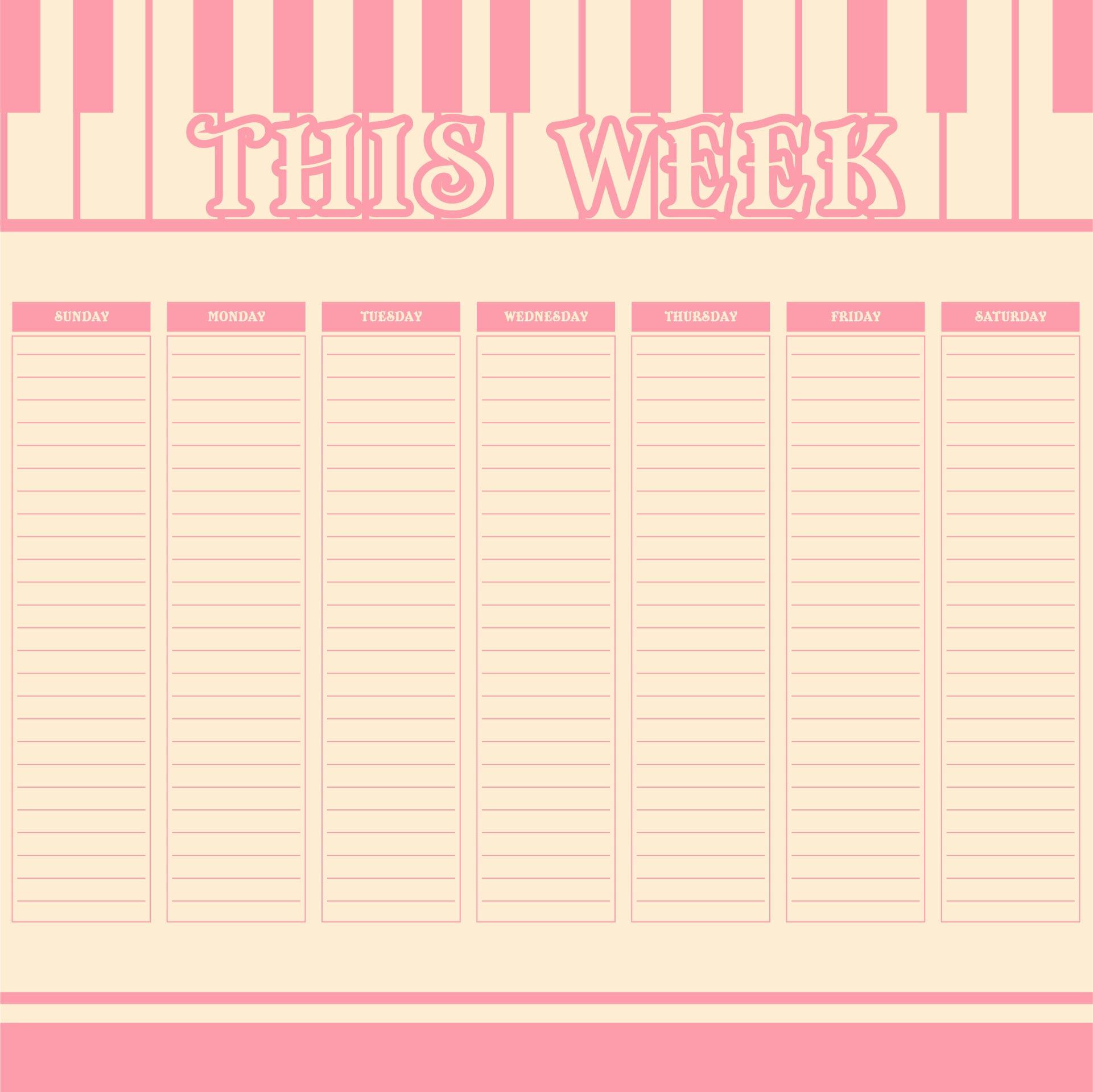 Printable Weekly Do List Template