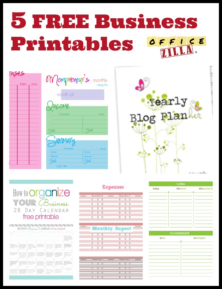Free Small Business Printable Forms